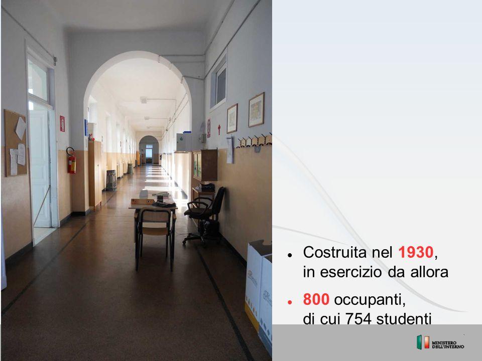 Costruita nel 1930, in esercizio da allora 800 occupanti, di cui 754 studenti