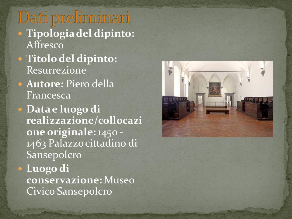 Tipologia del dipinto: Affresco Titolo del dipinto: Resurrezione Autore: Piero della Francesca Data e luogo di realizzazione/collocazi one originale: