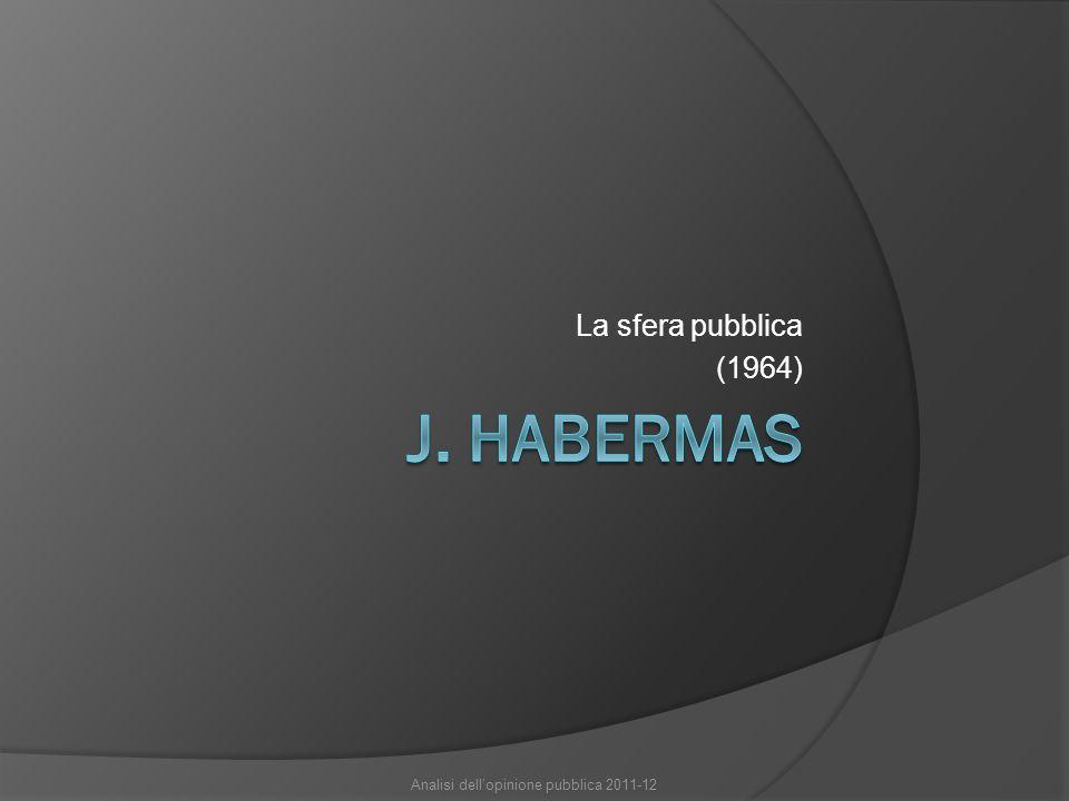 La sfera pubblica (1964) Analisi dell'opinione pubblica 2011-12