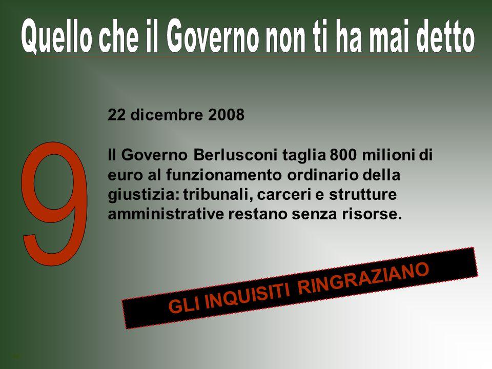 Il Governo Berlusconi taglia 23 milioni di euro destinati a mettere in sicurezza le scuole pubbliche.
