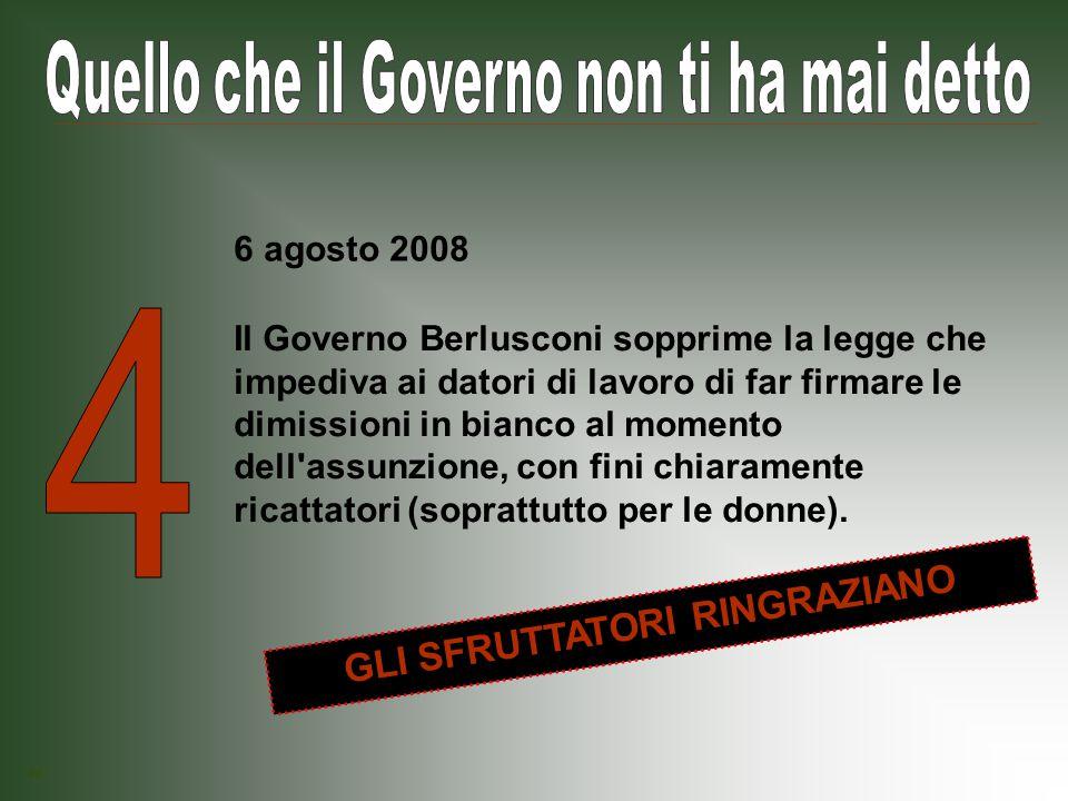 Il Governo Berlusconi prospetta una riduzione delle pene per chi non rispetta le norme sulla sicurezza nei luoghi di lavoro.