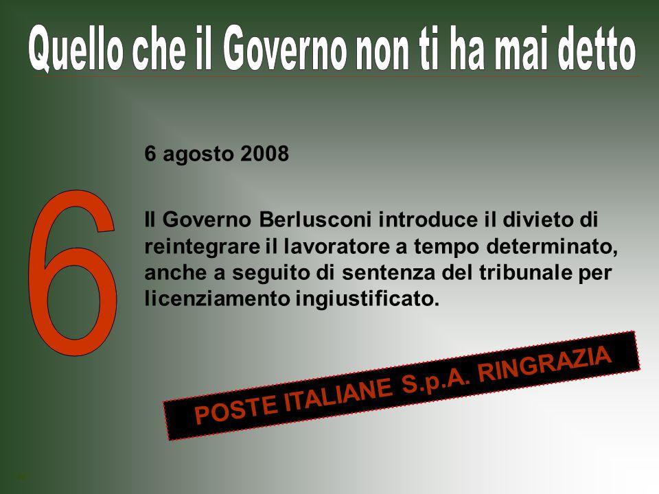 Il Governo Berlusconi spiana la strada alla privatizzazione dell acqua, trasformandola da bene pubblico a merce.