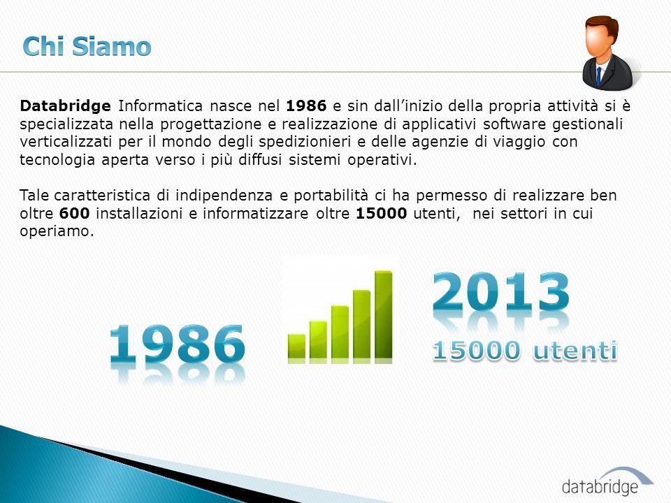 Databridge Informatica nasce nel 1986 e sin dall'inizio della propria attività si è specializzata nella progettazione e realizzazione di applicativi s