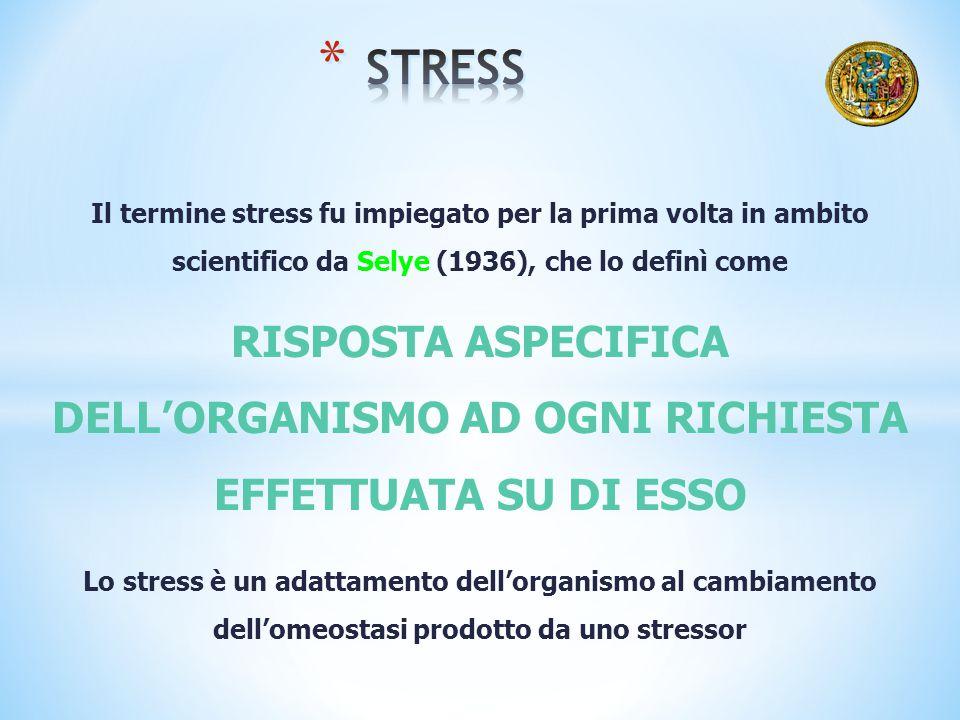 La risposta allo stress varia da persona a persona: stimoli dotati dello stesso potere stressante non inducono necessariamente la stessa risposta in soggetti diversi, così come stimoli stressanti di differente entità possono provocare reazioni equivalenti in persone differenti.