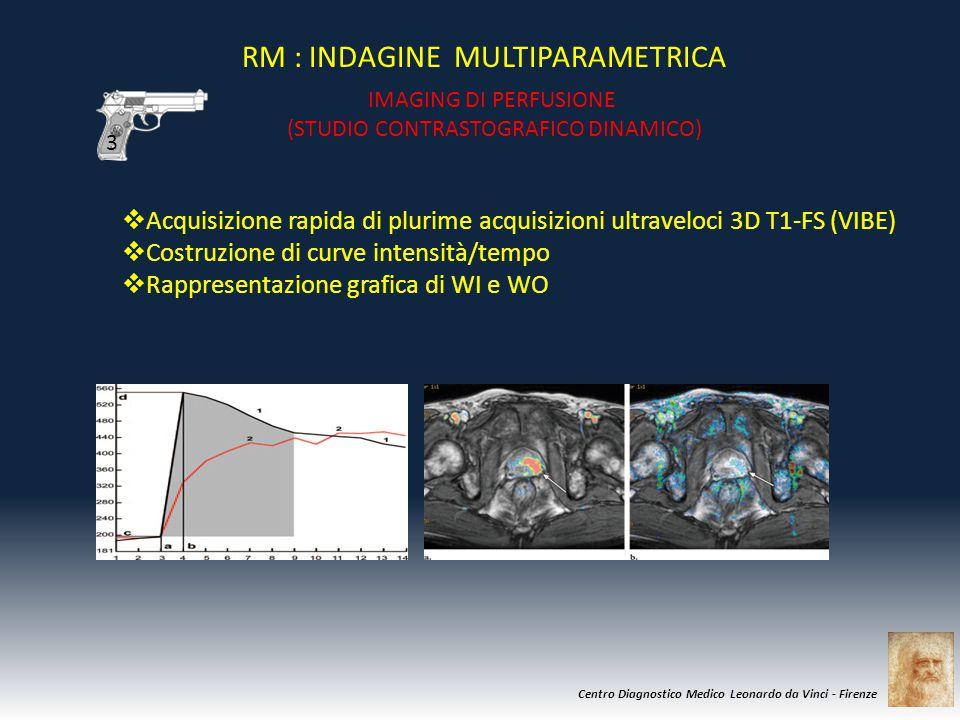 Centro Diagnostico Medico Leonardo da Vinci - Firenze  Acquisizione rapida di plurime acquisizioni ultraveloci 3D T1-FS (VIBE)  Costruzione di curve