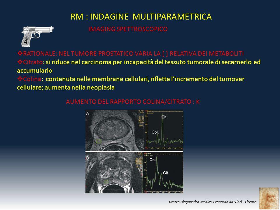 Centro Diagnostico Medico Leonardo da Vinci - Firenze RM : INDAGINE MULTIPARAMETRICA IMAGING SPETTROSCOPICO  RATIONALE: NEL TUMORE PROSTATICO VARIA L