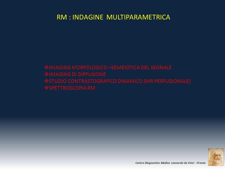 Centro Diagnostico Medico Leonardo da Vinci - Firenze  IMAGING MORFOLOGICO –SEMEIOTICA DEL SEGNALE  IMAGING DI DIFFUSIONE  STUDIO CONTRASTOGRAFICO