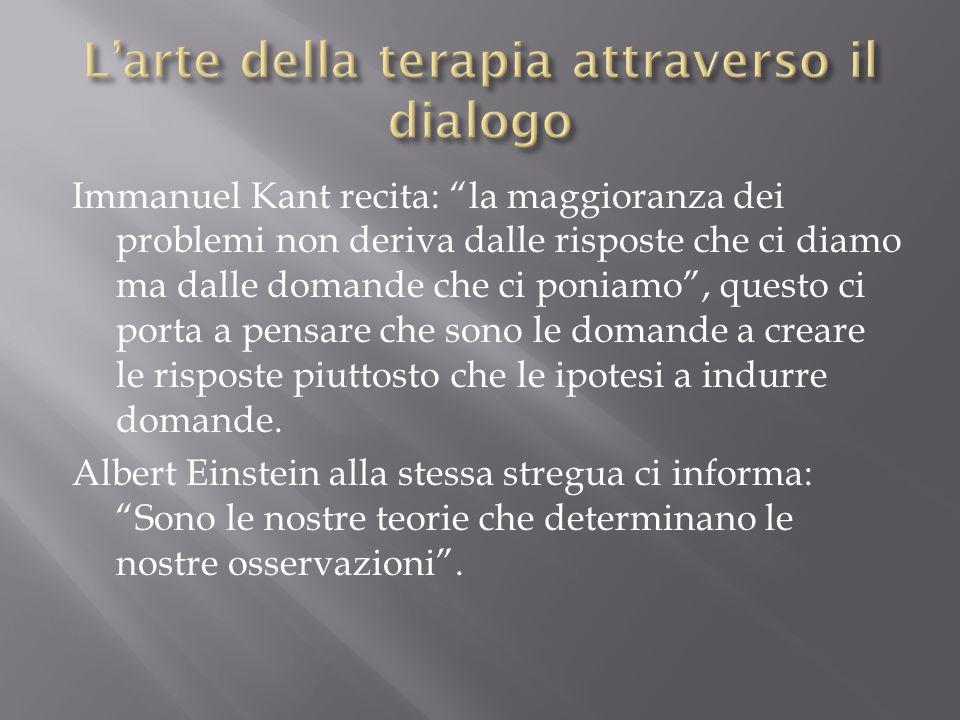 """Immanuel Kant recita: """"la maggioranza dei problemi non deriva dalle risposte che ci diamo ma dalle domande che ci poniamo"""", questo ci porta a pensare"""