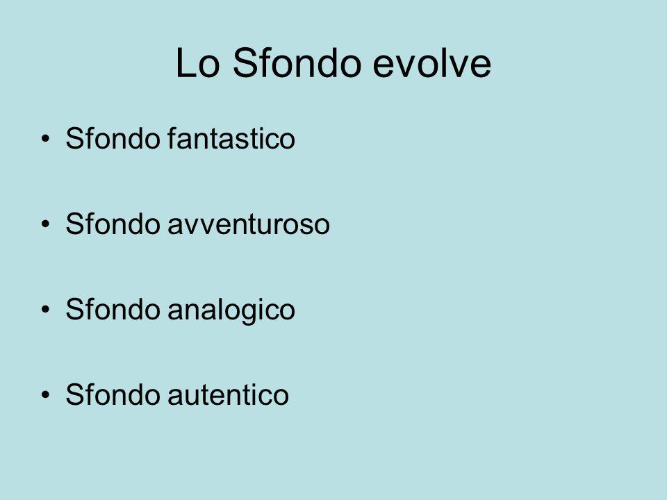 Lo Sfondo evolve Sfondo fantastico Sfondo avventuroso Sfondo analogico Sfondo autentico
