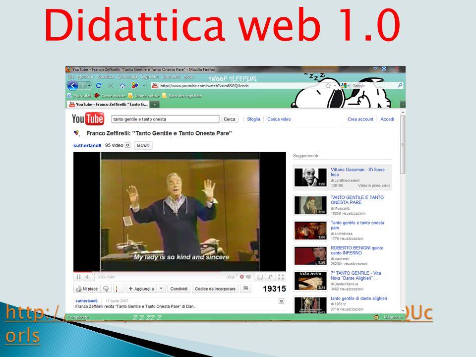 Didattica web 1.0