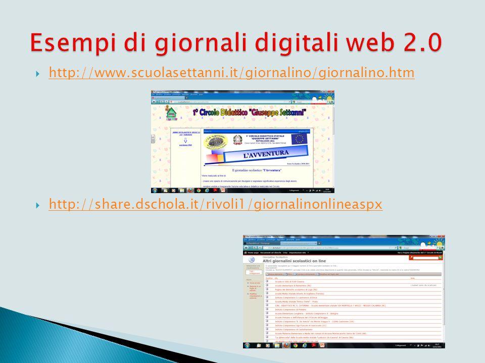  http://www.scuolasettanni.it/giornalino/giornalino.htm http://www.scuolasettanni.it/giornalino/giornalino.htm  http://share.dschola.it/rivoli1/gior