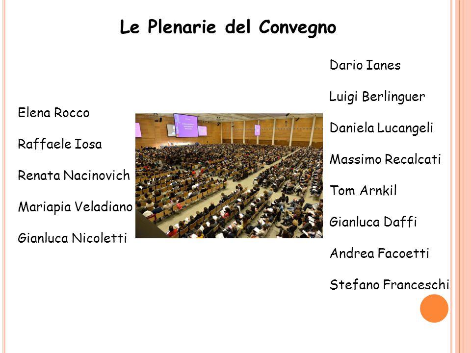 Le Plenarie del Convegno Dario Ianes Luigi Berlinguer Daniela Lucangeli Massimo Recalcati Tom Arnkil Gianluca Daffi Andrea Facoetti Stefano Franceschi