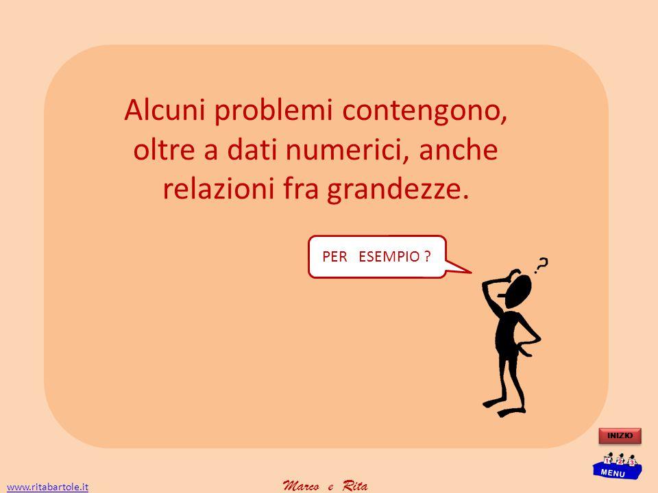 www.ritabartole.itwww.ritabartole.it Marco e Rita INIZIO MENU A B A è frazione di B e conosco … Trovo A e B.
