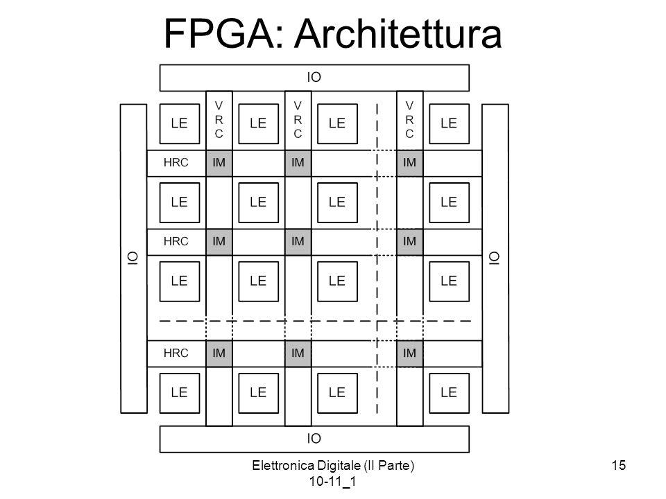 Elettronica Digitale (II Parte) 10-11_1 15 FPGA: Architettura