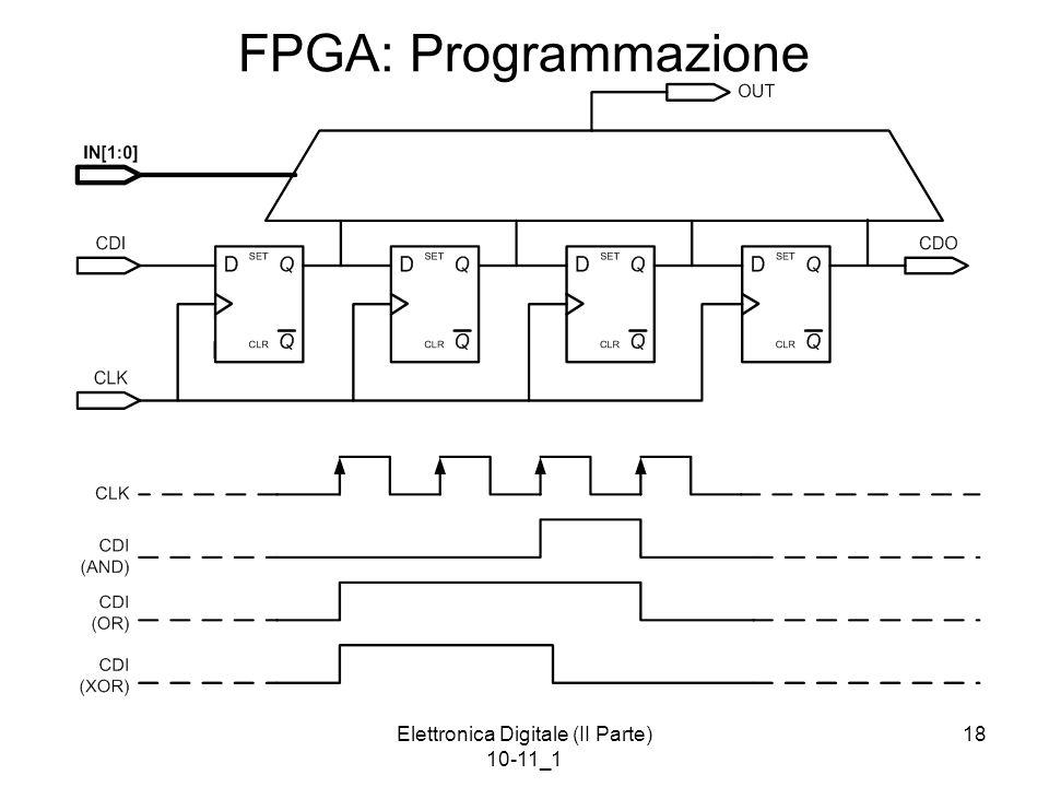 Elettronica Digitale (II Parte) 10-11_1 18 FPGA: Programmazione