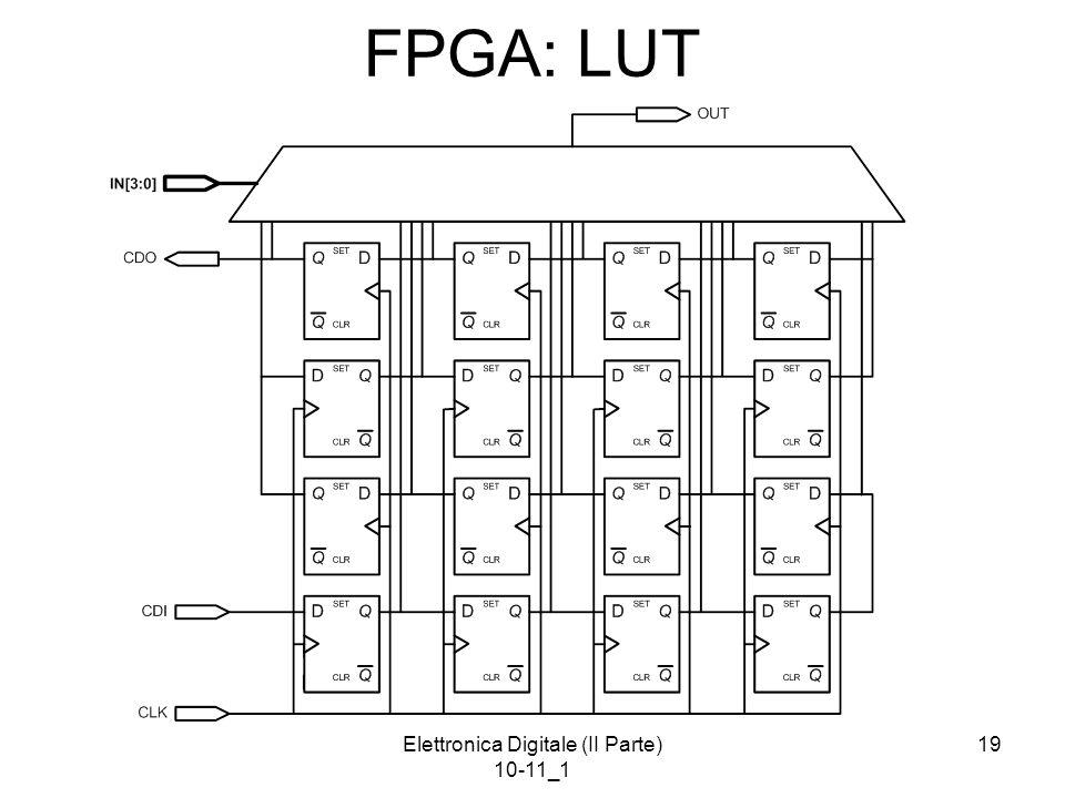 Elettronica Digitale (II Parte) 10-11_1 19 FPGA: LUT