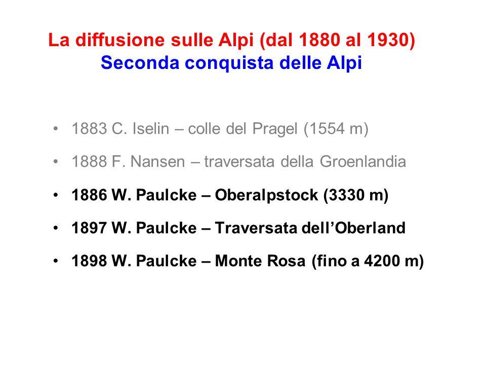 1883 C.Iselin – colle del Pragel (1554 m) 1888 F.