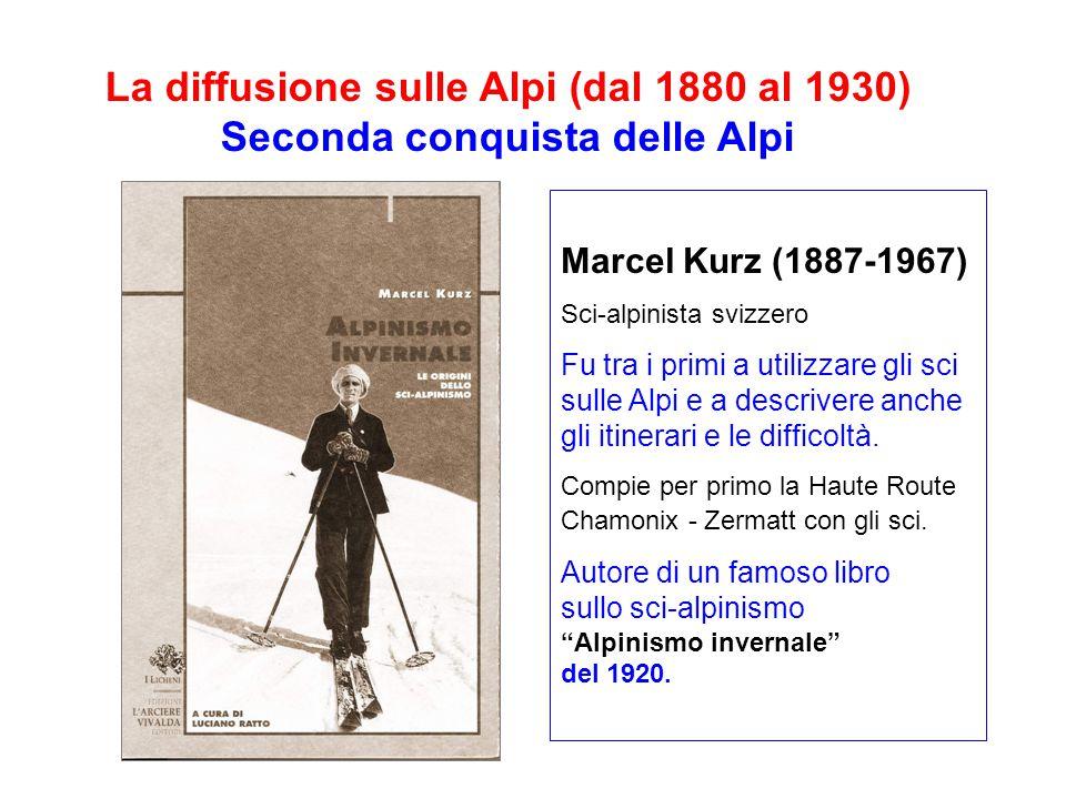 Marcel Kurz (1887-1967) Sci-alpinista svizzero Fu tra i primi a utilizzare gli sci sulle Alpi e a descrivere anche gli itinerari e le difficoltà.