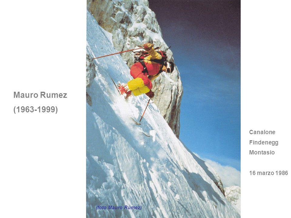Mauro Rumez (1963-1999) (foto Mauro Rumez) Canalone Findenegg Montasio 16 marzo 1986