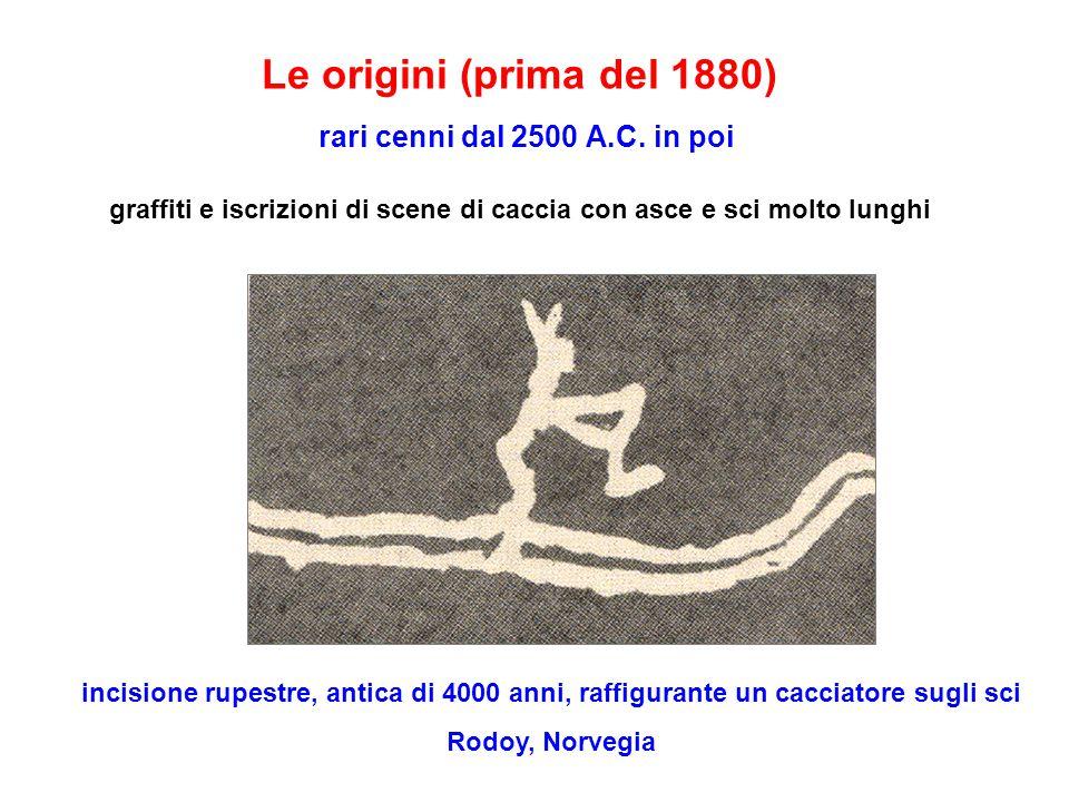 Le origini (prima del 1880) rari cenni dal 2500 A.C.