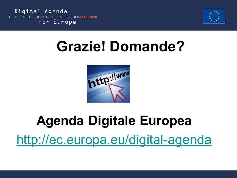 Grazie! Domande Agenda Digitale Europea http://ec.europa.eu/digital-agenda