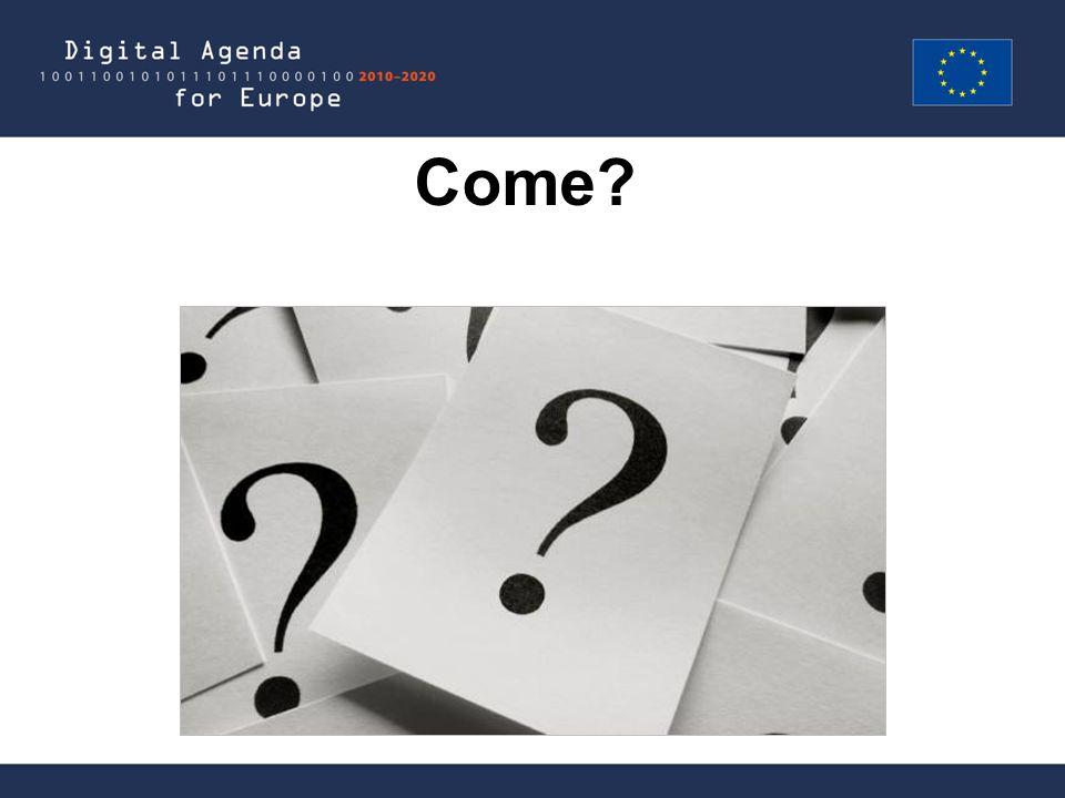 Grazie! Domande? Agenda Digitale Europea http://ec.europa.eu/digital-agenda