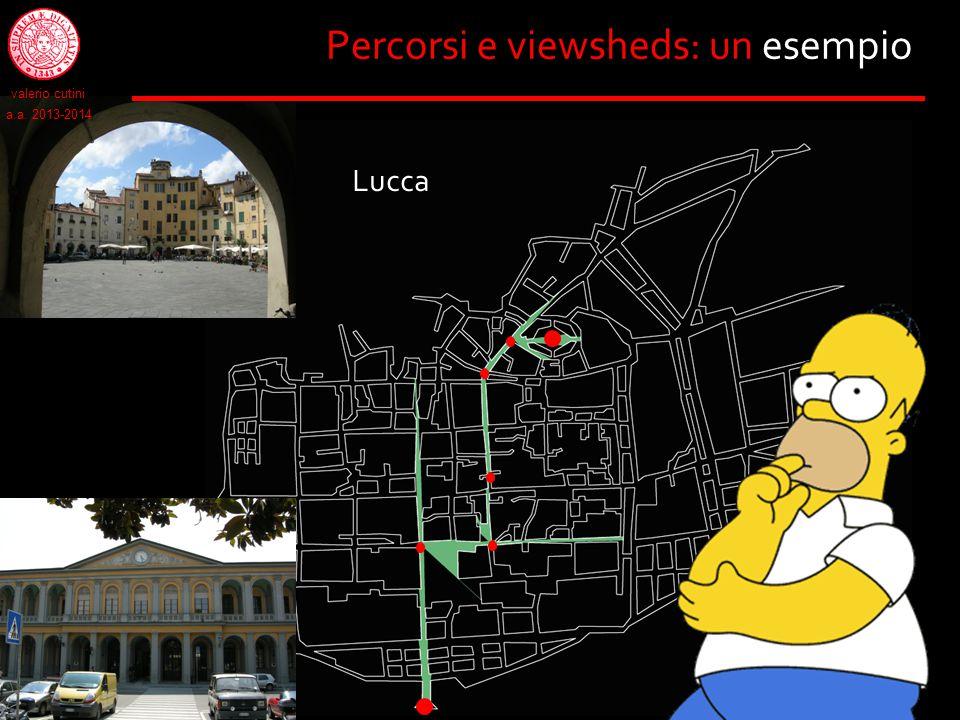 Percorsi e viewsheds: un esempio Lucca valerio cutini a.a. 2013-2014