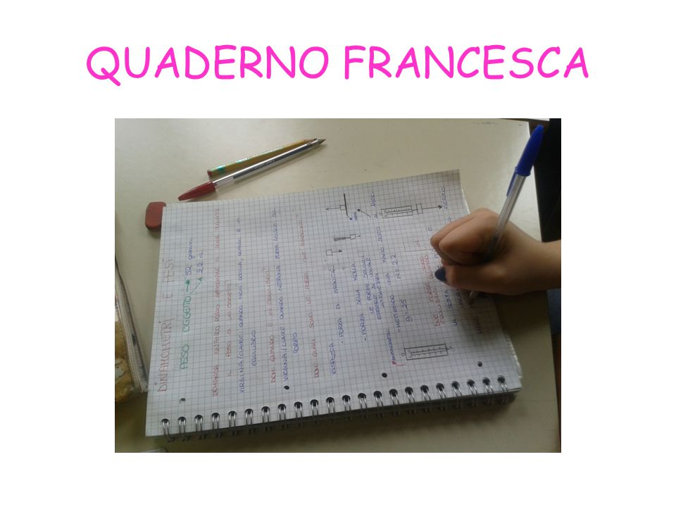 QUADERNO FRANCESCA