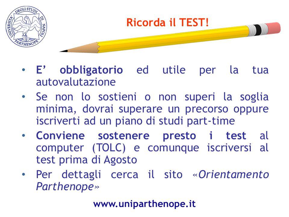 Ricorda il TEST.