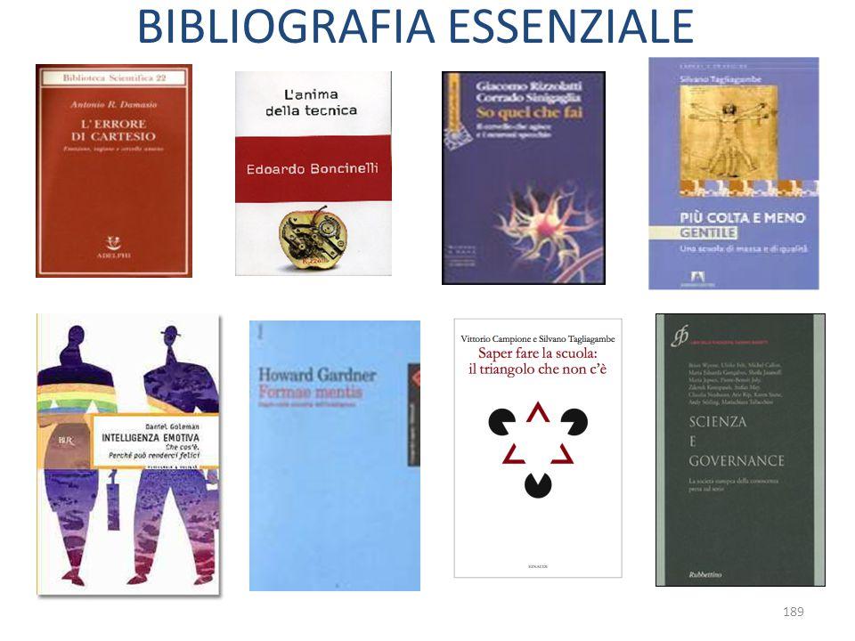 189 BIBLIOGRAFIA ESSENZIALE