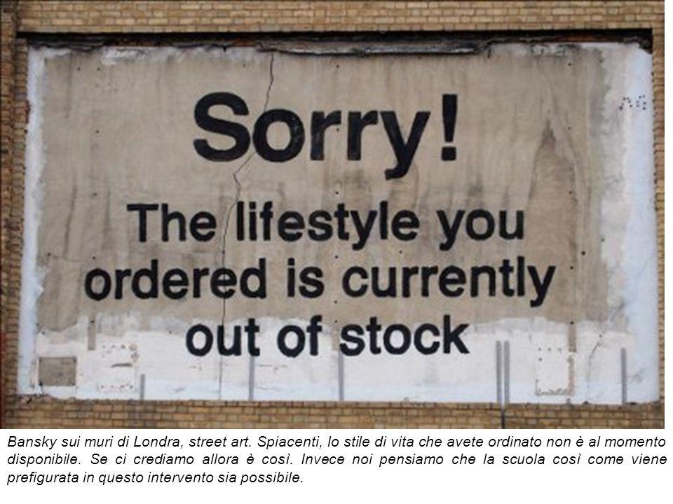 Bansky sui muri di Londra, street art. Spiacenti, lo stile di vita che avete ordinato non è al momento disponibile. Se ci crediamo allora è così. Inve