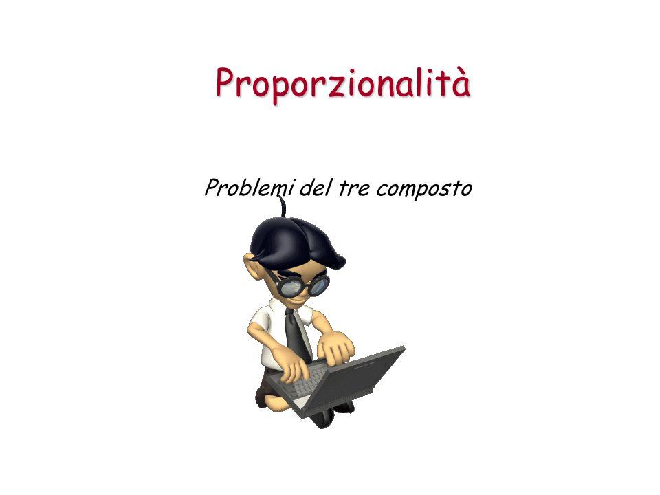 Proporzionalità Problemi del tre composto