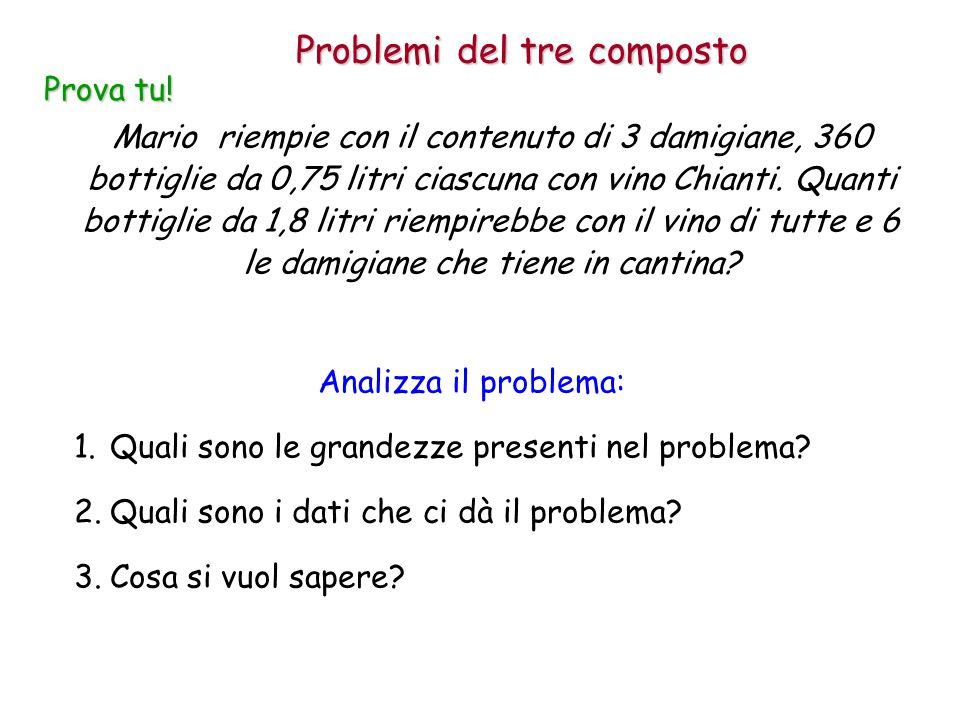 Mario riempie con il contenuto di 3 damigiane, 360 bottiglie da 0,75 litri ciascuna con vino Chianti.