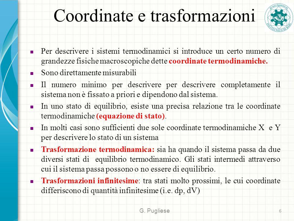 Coordinate e trasformazioni G.