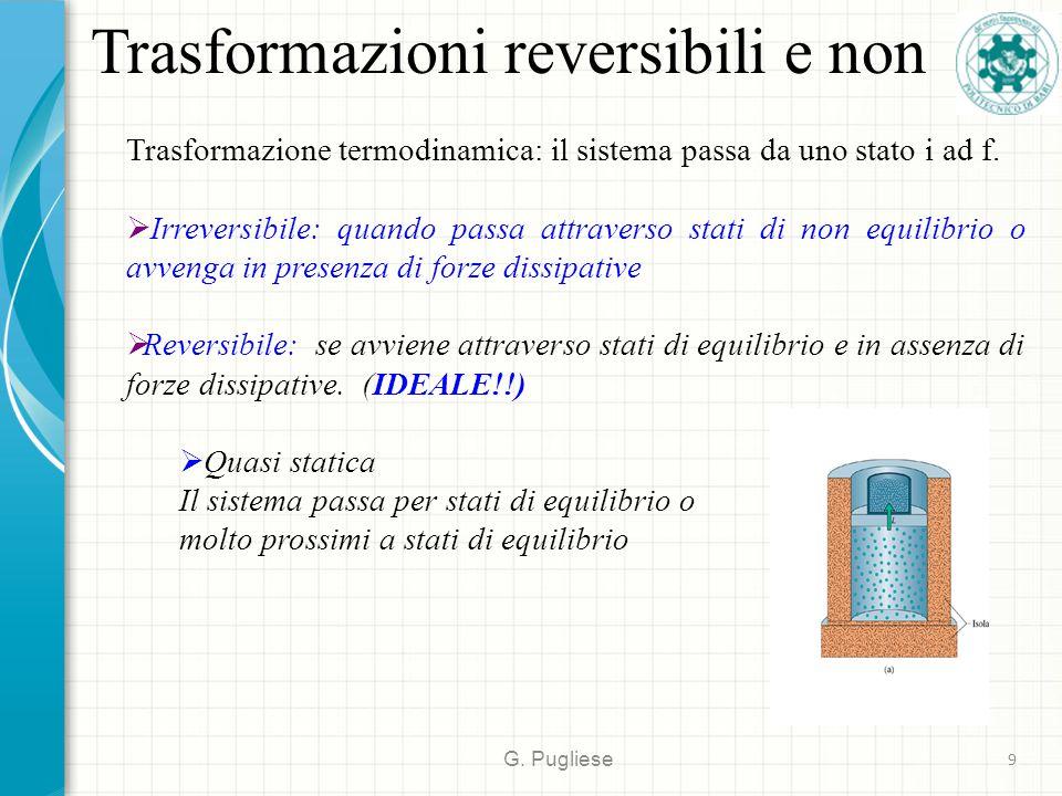 Trasformazioni reversibili e non G.