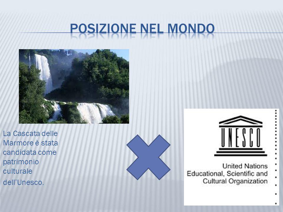 La Cascata delle Marmore è stata candidata come patrimonio culturale dell'Unesco.