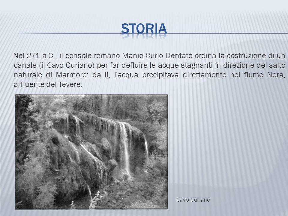 Nel 271 a.C., il console romano Manio Curio Dentato ordina la costruzione di un canale (il Cavo Curiano) per far defluire le acque stagnanti in direzi