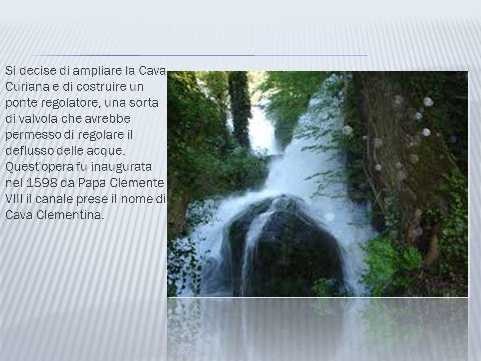 Si decise di ampliare la Cava Curiana e di costruire un ponte regolatore, una sorta di valvola che avrebbe permesso di regolare il deflusso delle acqu