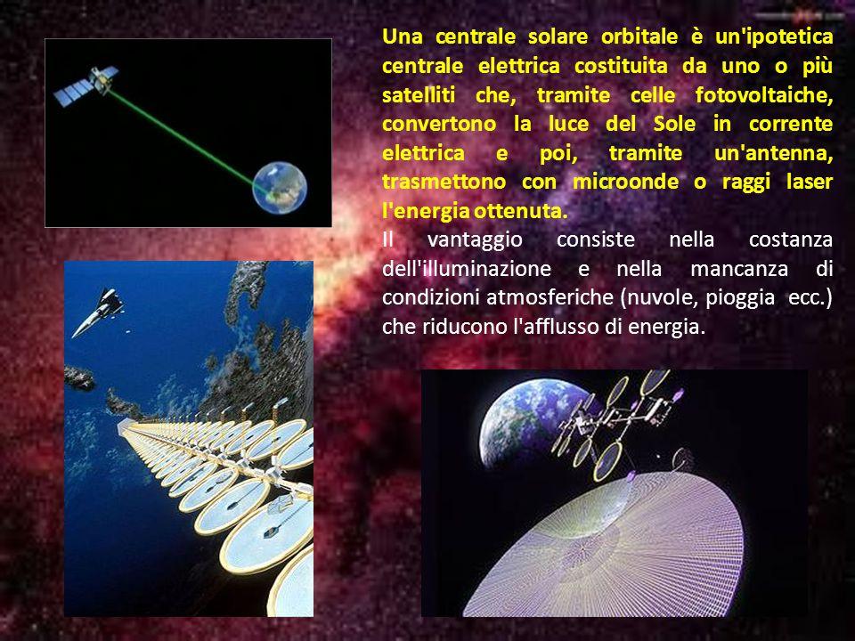 Una centrale solare orbitale è un'ipotetica centrale elettrica costituita da uno o più satelliti che, tramite celle fotovoltaiche, convertono la luce
