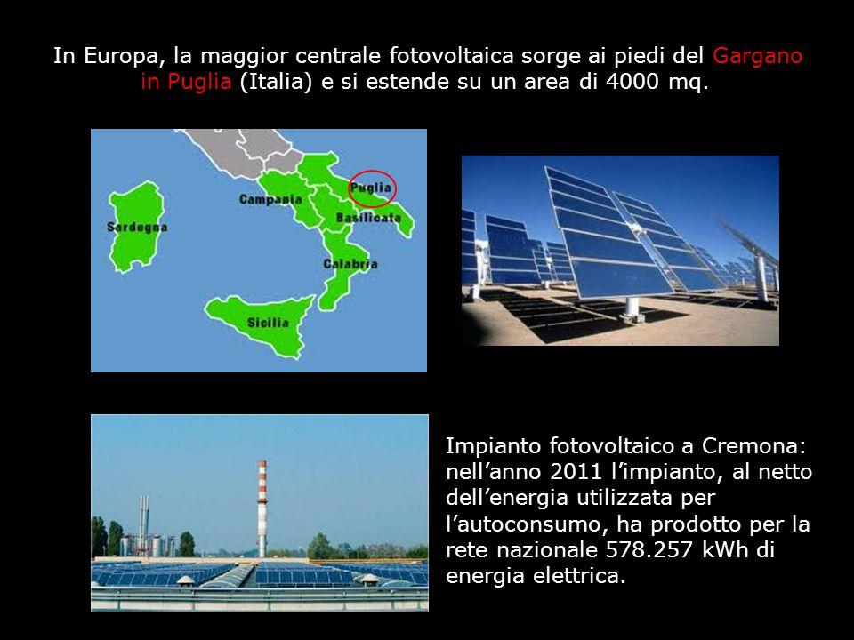 Impianto fotovoltaico a Cremona: nell'anno 2011 l'impianto, al netto dell'energia utilizzata per l'autoconsumo, ha prodotto per la rete nazionale 578.