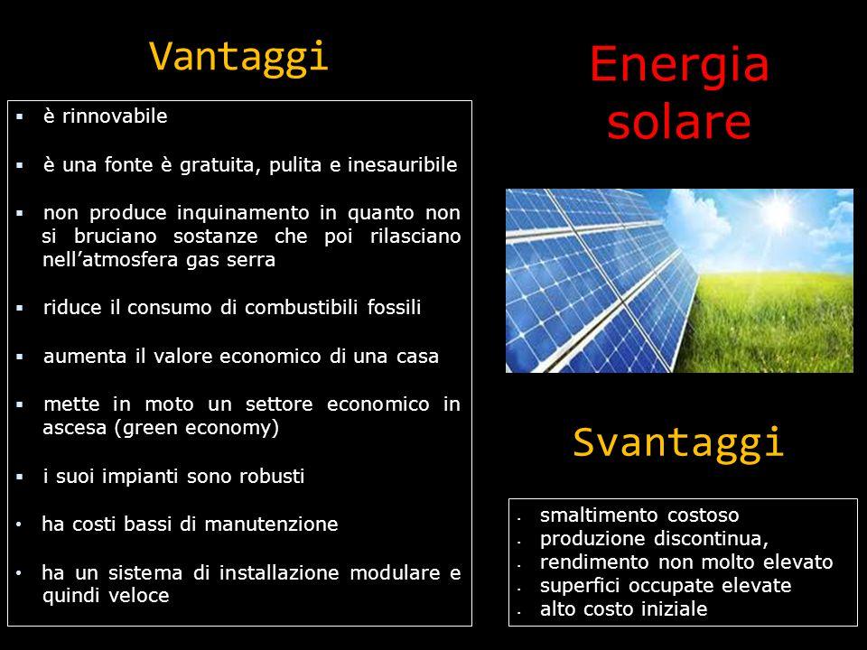 Energia solare: uso L'energia solare può essere usata in molteplici modi, quelli più usati sono: le celle fotovoltaiche e i pannelli solari termici.