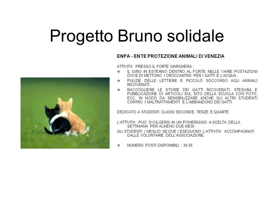 Progetto Bruno solidale ENPA - ENTE PROTEZIONE ANIMALI DI VENEZIA ATTIVITA' PRESSO IL FORTE MARGHERA :  IL GIRO IN ESTERNO DENTRO AL FORTE NELLE VARI