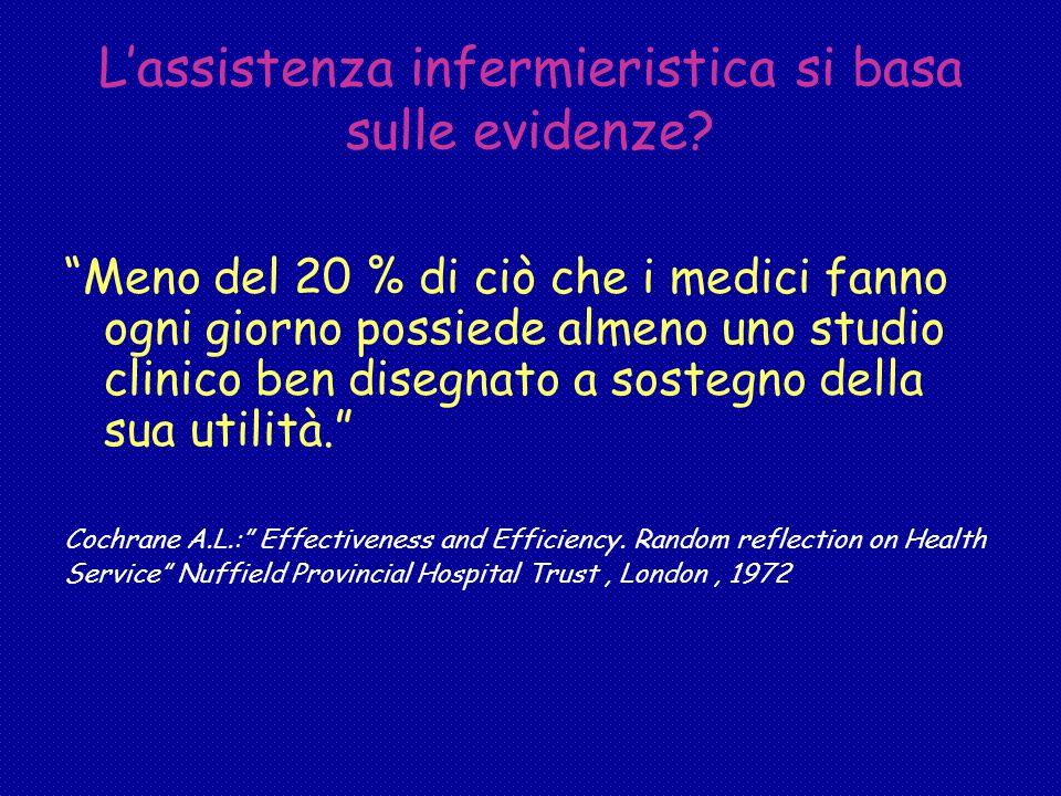 L'assistenza infermieristica si basa sulle evidenze.
