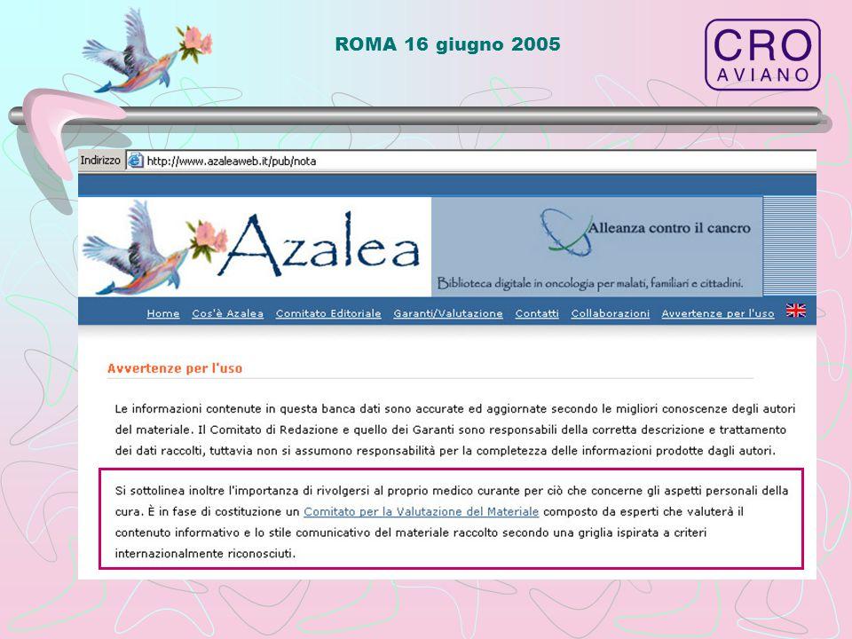 ROMA 16 giugno 2005