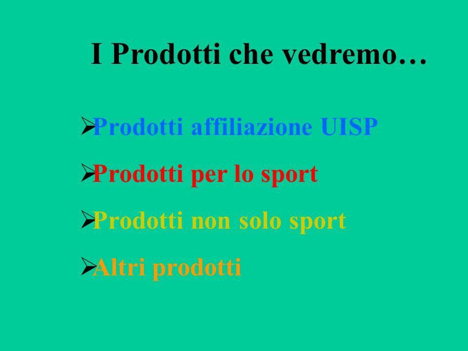 Prodotti legati all'affiliazione UISP  RCT della Società Sportiva  Tesseramento  Coperture manifestazioni open  Denuncia incidente