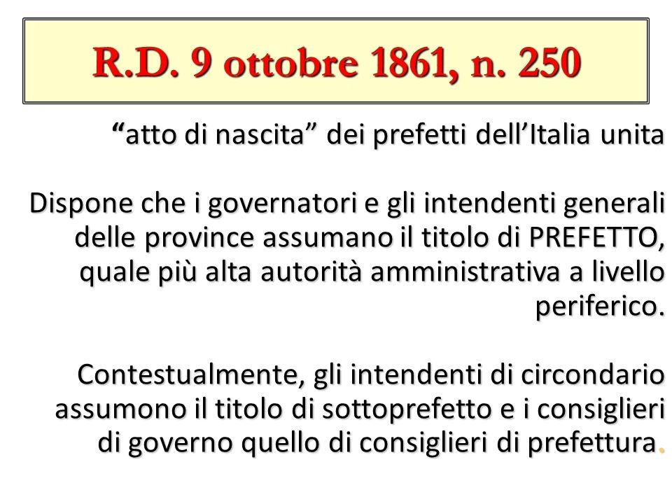 R.D.9 ottobre 1861, n.