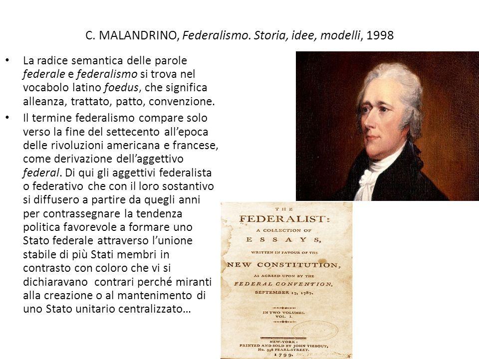 C.MALANDRINO, Federalismo.