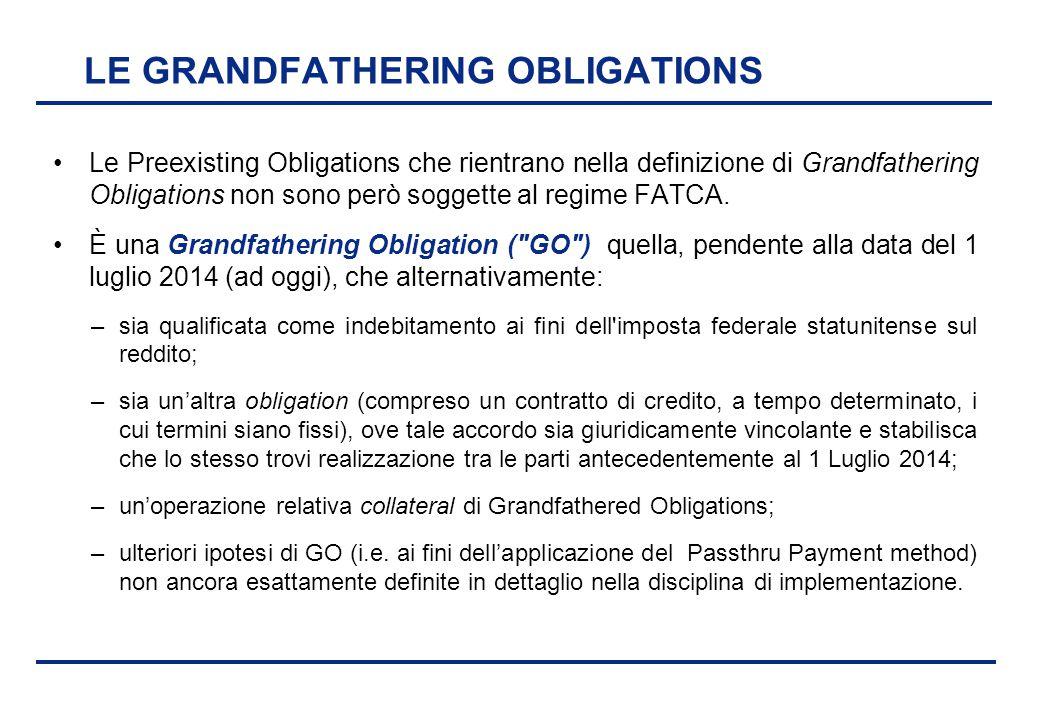 BEI - 17 aprile 2013 LE GRANDFATHERING OBLIGATIONS Le Preexisting Obligations che rientrano nella definizione di Grandfathering Obligations non sono p