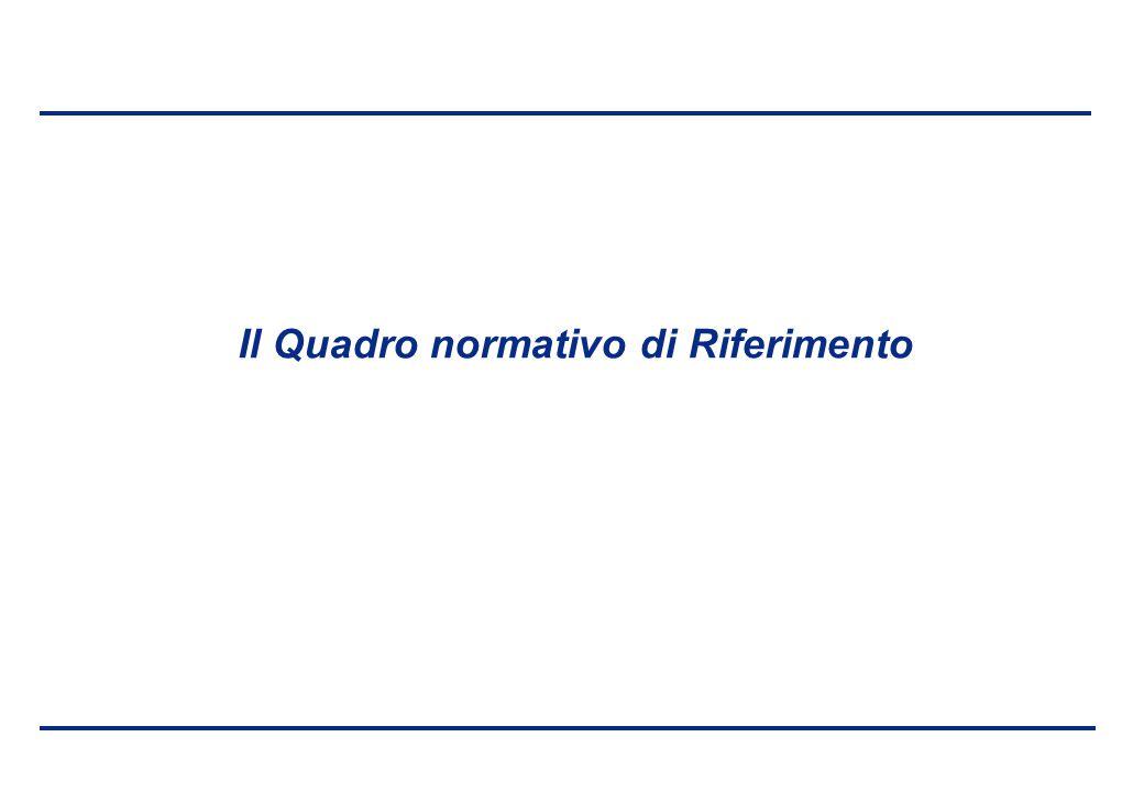 BEI - 17 aprile 2013 Il Quadro normativo di Riferimento