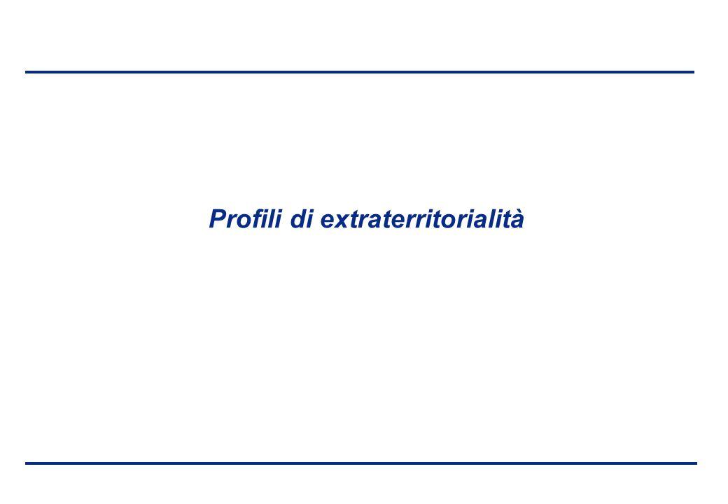 BEI - 17 aprile 2013 Profili di extraterritorialità